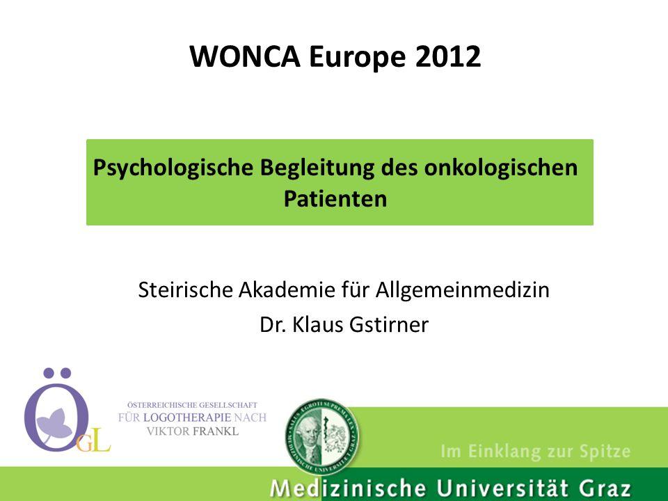 Steirische Akademie für Allgemeinmedizin Dr. Klaus Gstirner