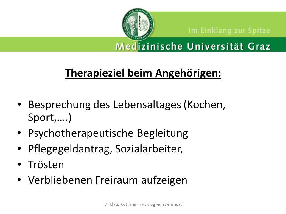 Therapieziel beim Angehörigen: