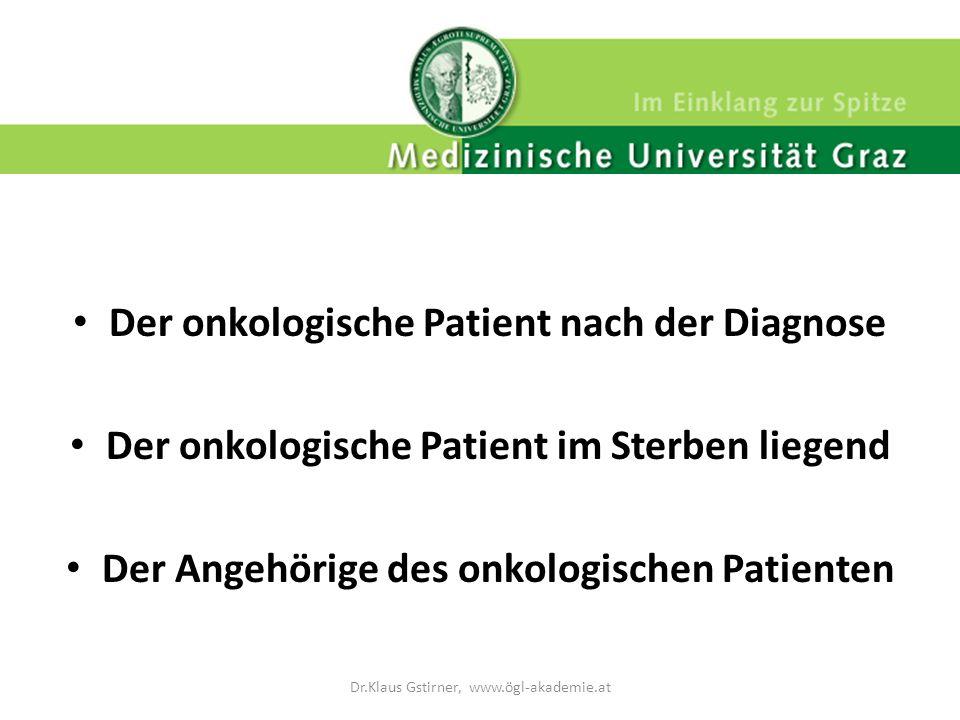 Der onkologisch tätige Arzt