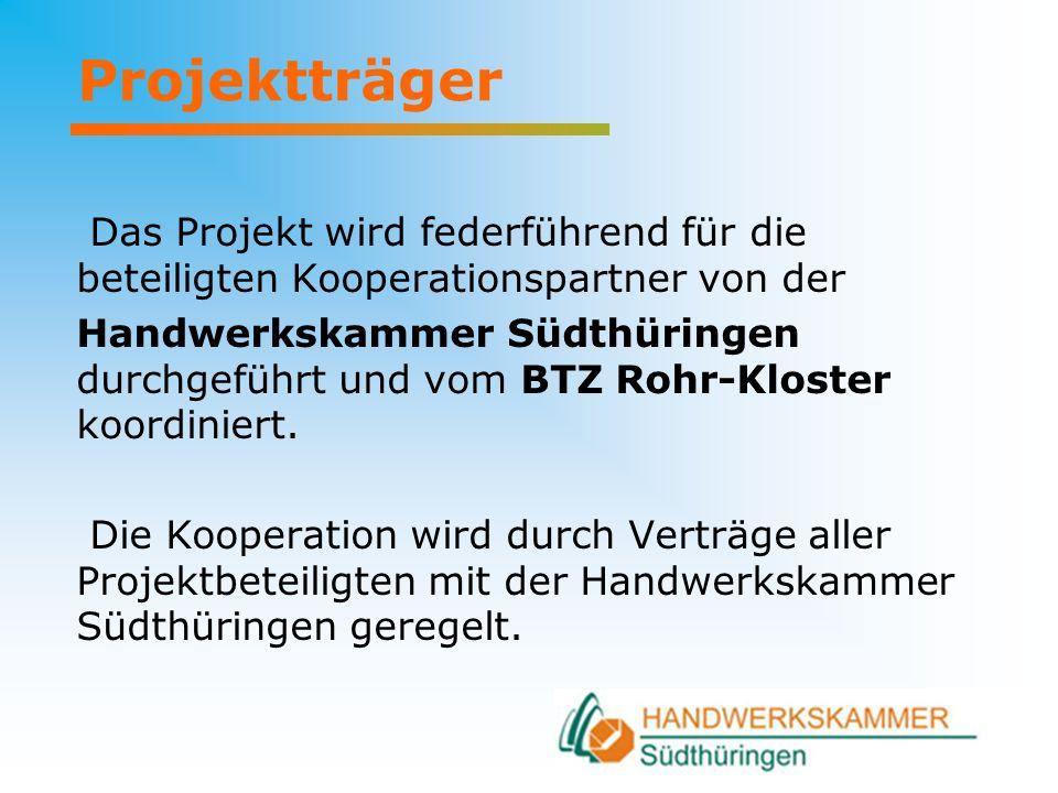 Projektträger Das Projekt wird federführend für die beteiligten Kooperationspartner von der.
