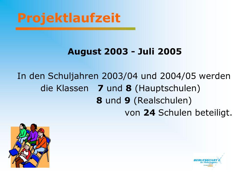 Projektlaufzeit August 2003 - Juli 2005