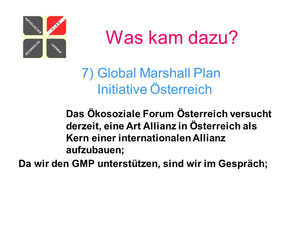 7) Global Marshall Plan Initiative Österreich