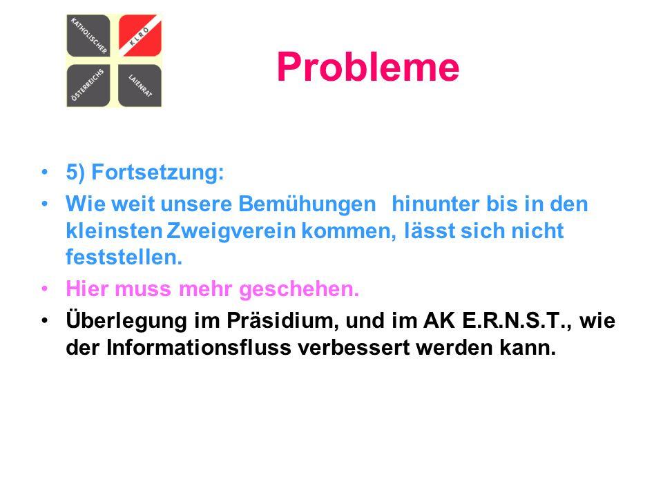Probleme 5) Fortsetzung: