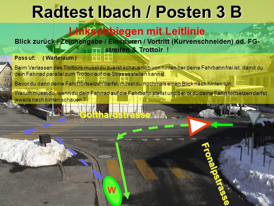 Radtest Ibach / Posten 3 B