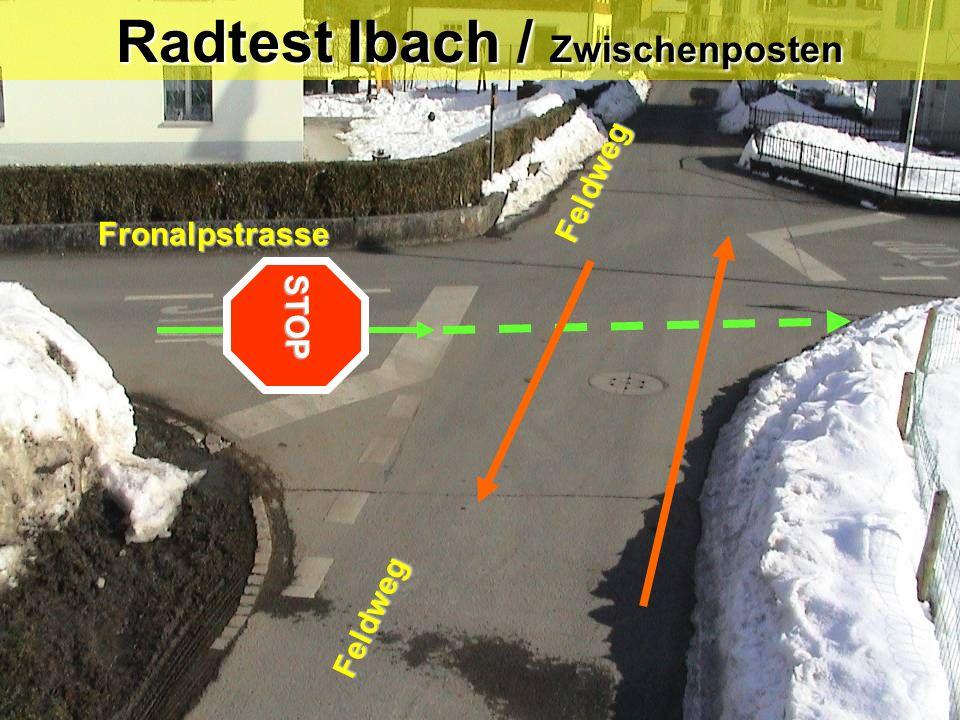Radtest Ibach / Zwischenposten