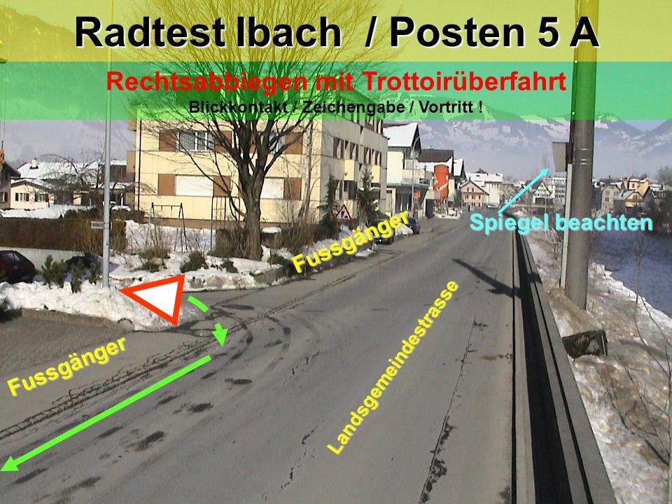 Radtest Ibach / Posten 5 A