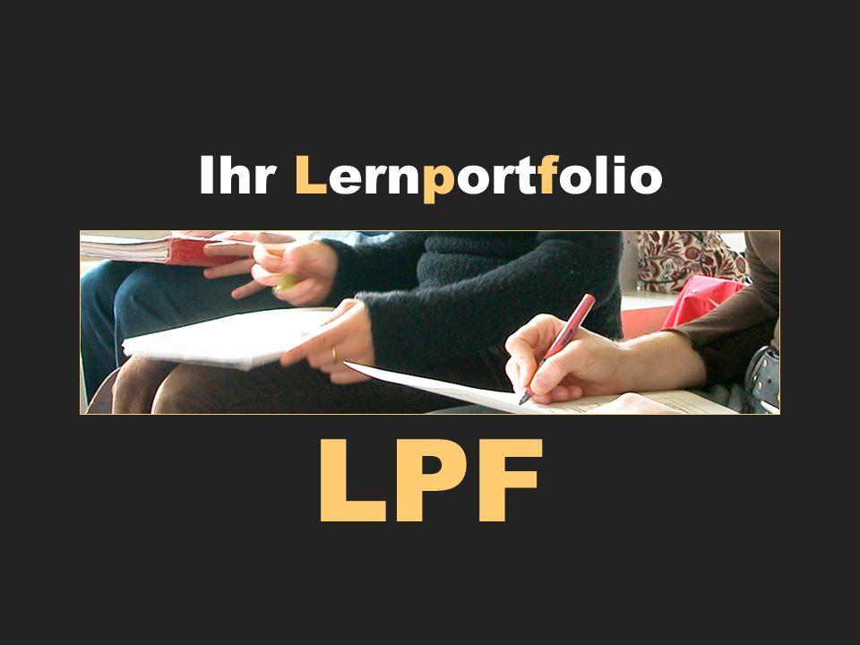 Ihr Lernportfolio LPF