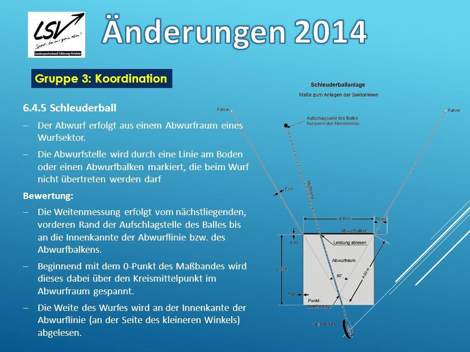 Änderungen 2014 Gruppe 3: Koordination 6.4.5 Schleuderball