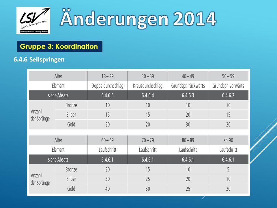 Änderungen 2014 Gruppe 3: Koordination 6.4.6 Seilspringen