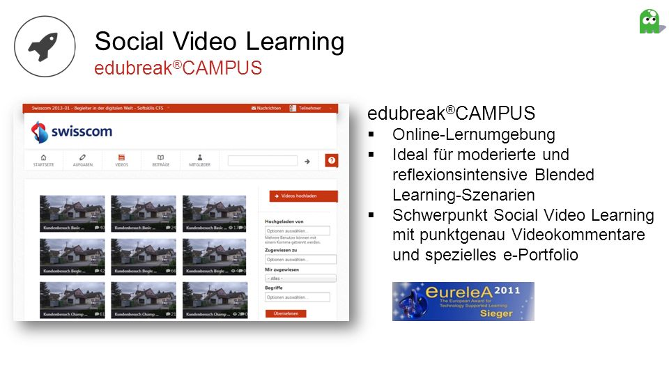Social Video Learning edubreak®CAMPUS edubreak®CAMPUS