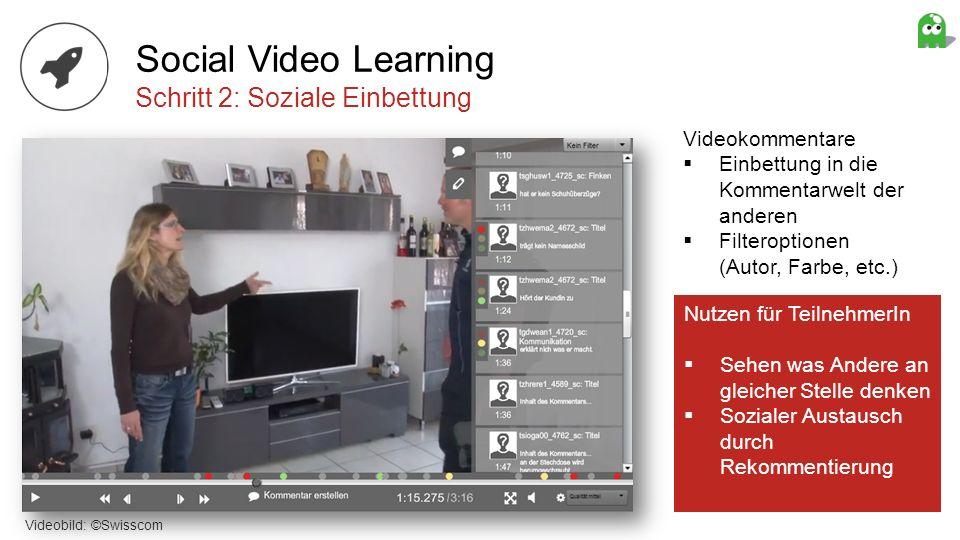Social Video Learning Schritt 2: Soziale Einbettung Videokommentare