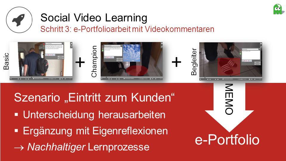 "+ + e-Portfolio Szenario ""Eintritt zum Kunden Social Video Learning"