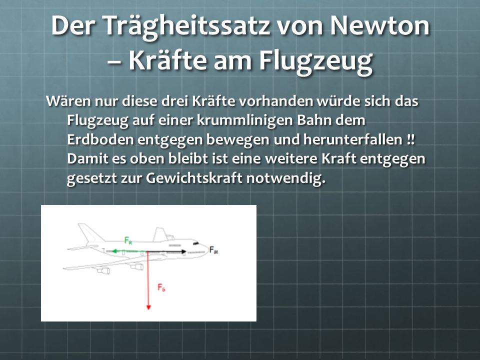 Der Trägheitssatz von Newton – Kräfte am Flugzeug