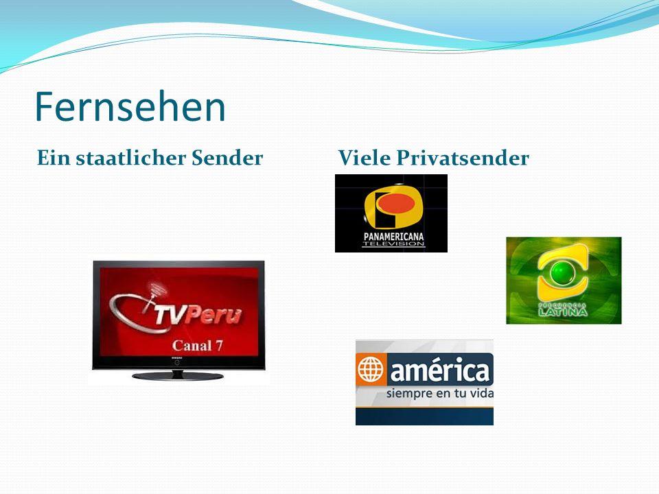 Fernsehen Ein staatlicher Sender Viele Privatsender