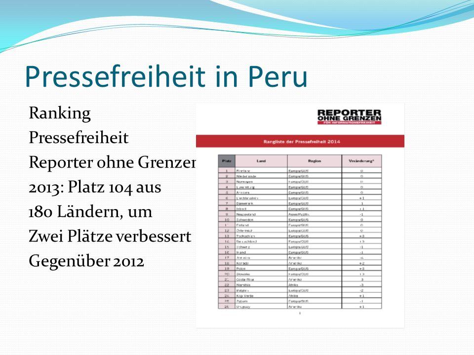 Pressefreiheit in Peru