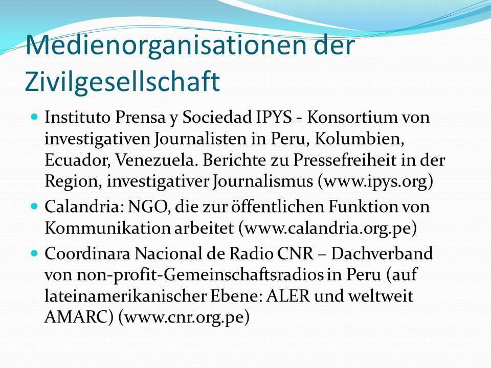 Medienorganisationen der Zivilgesellschaft