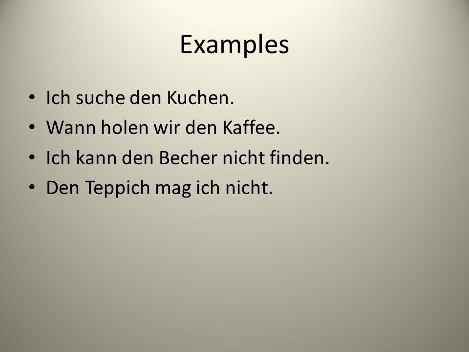 The Accusative Case By Herr Loeffler  ppt herunterladen