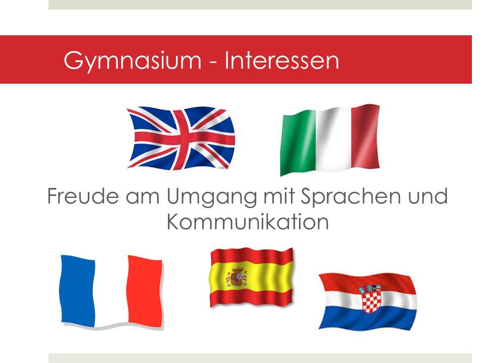 Gymnasium - Interessen