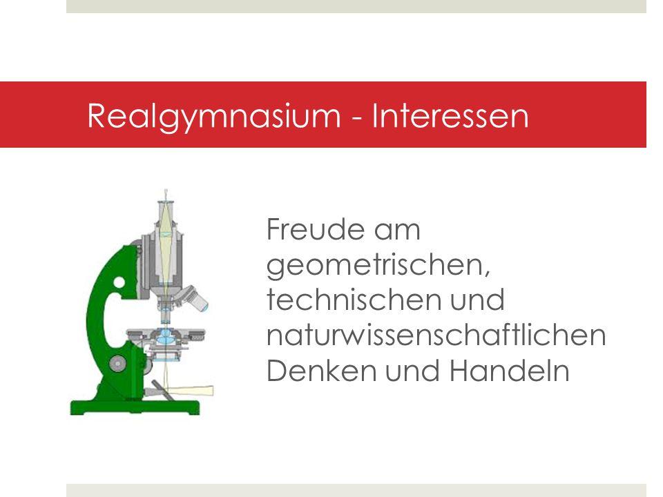 Realgymnasium - Interessen