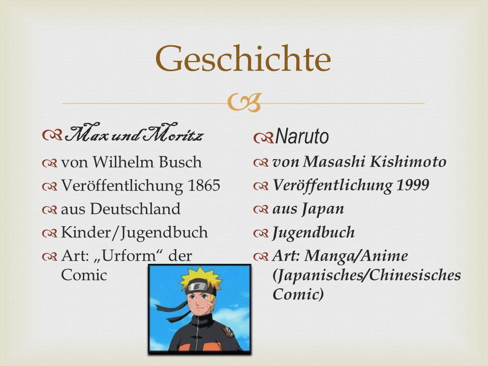 Geschichte Max und Moritz Naruto von Wilhelm Busch