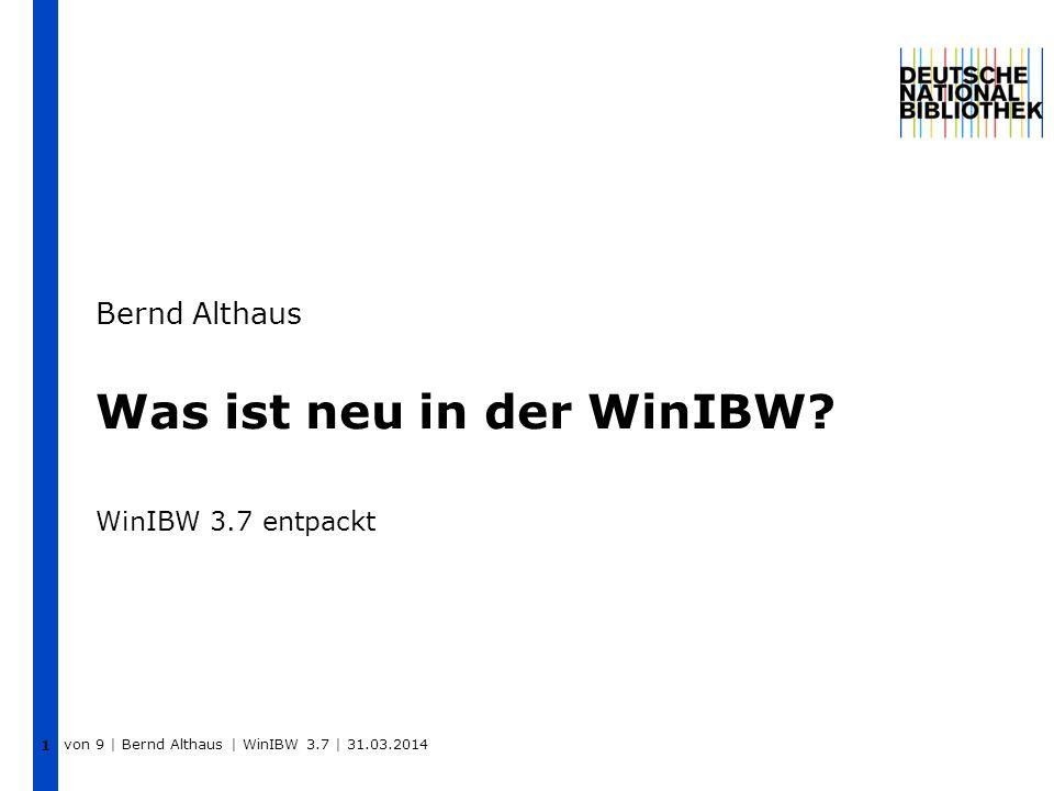 Was ist neu in der WinIBW WinIBW 3.7 entpackt