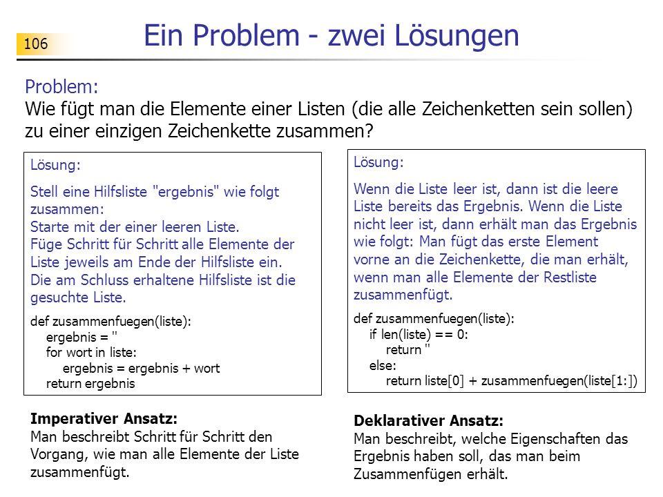 Ein Problem - zwei Lösungen