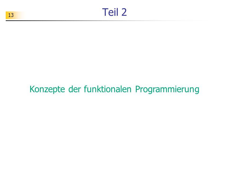 Konzepte der funktionalen Programmierung