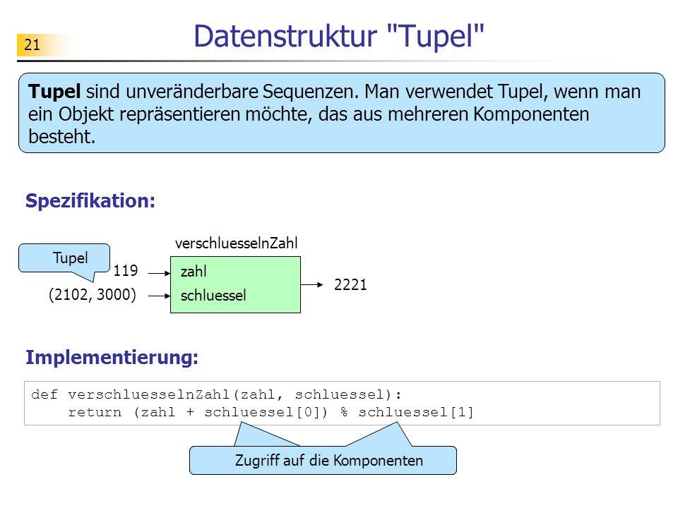Datenstruktur Tupel