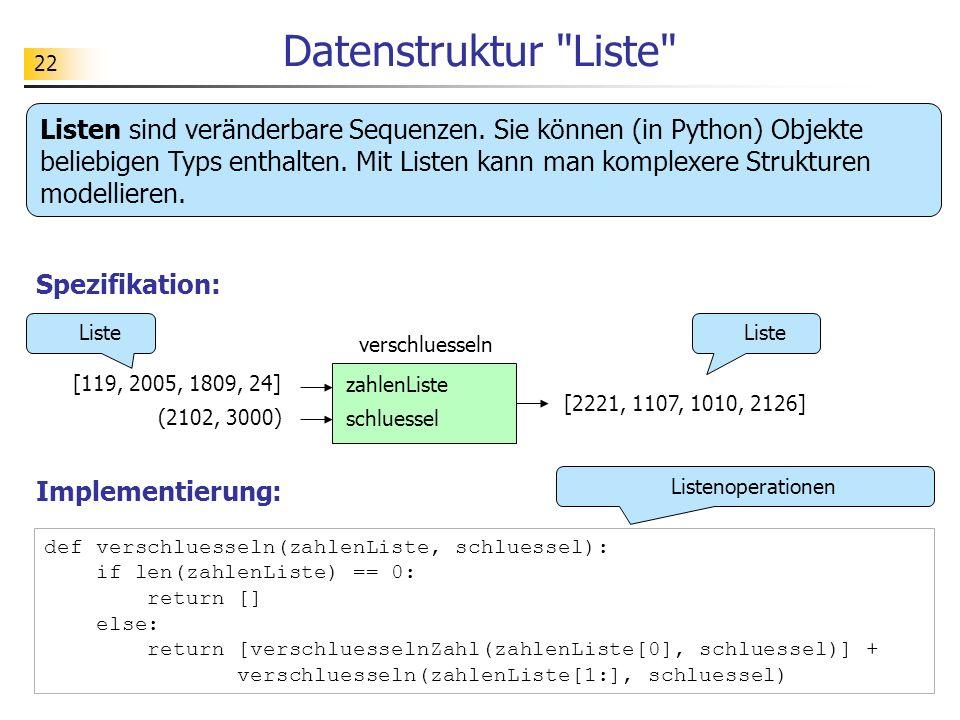 Datenstruktur Liste