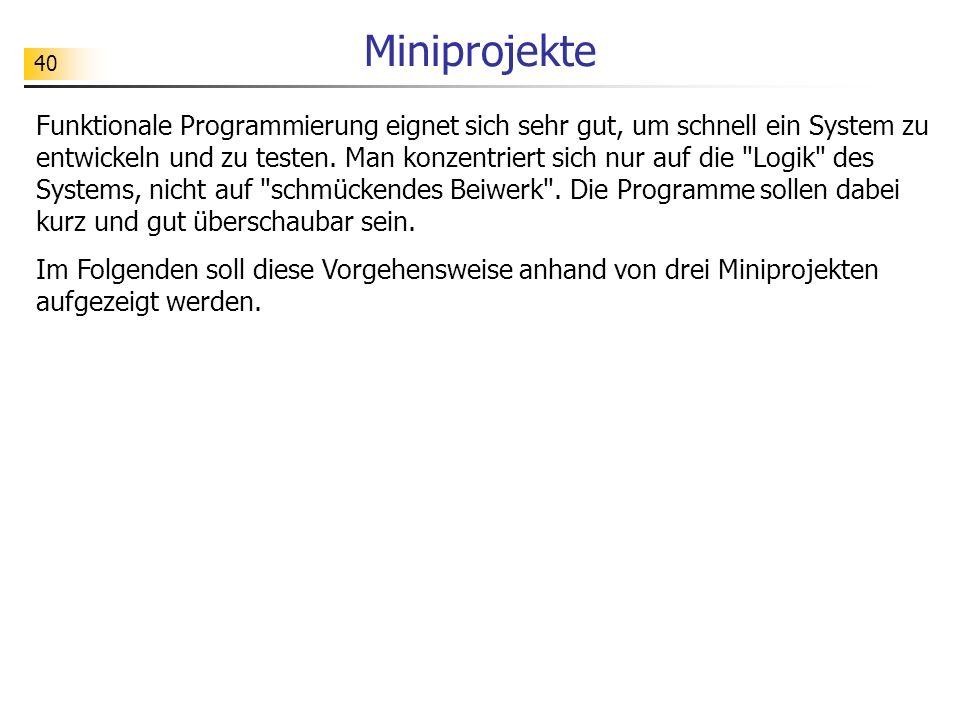 Miniprojekte
