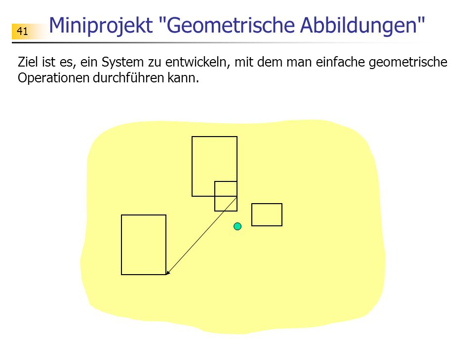 Miniprojekt Geometrische Abbildungen