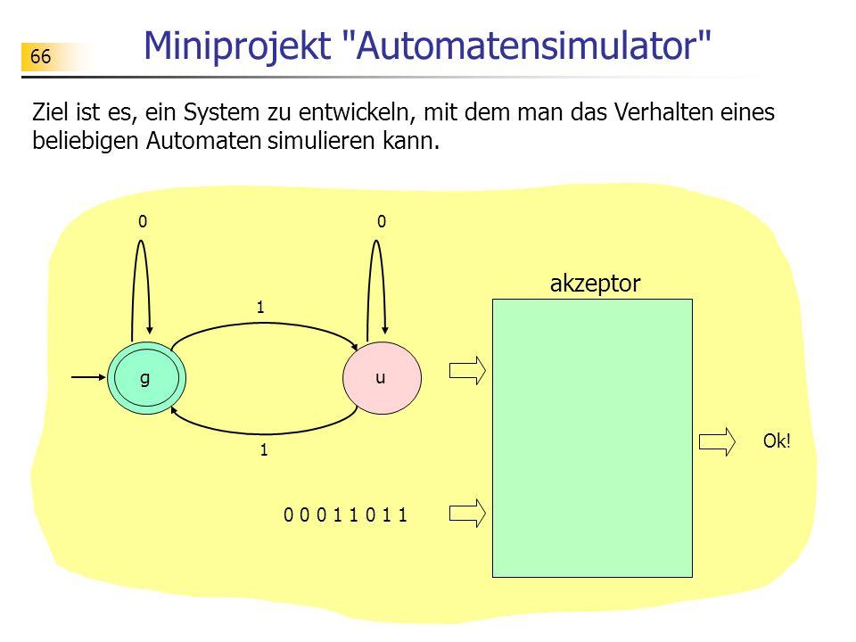 Miniprojekt Automatensimulator