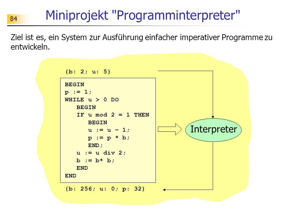 Miniprojekt Programminterpreter