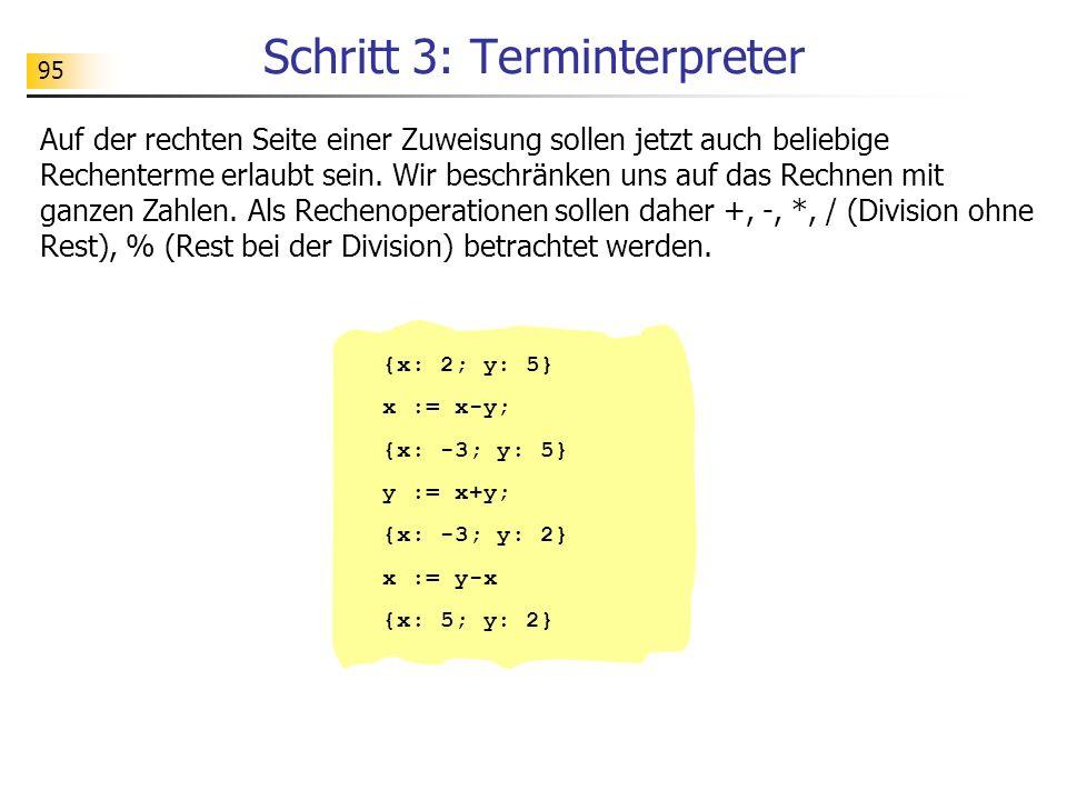 Schritt 3: Terminterpreter