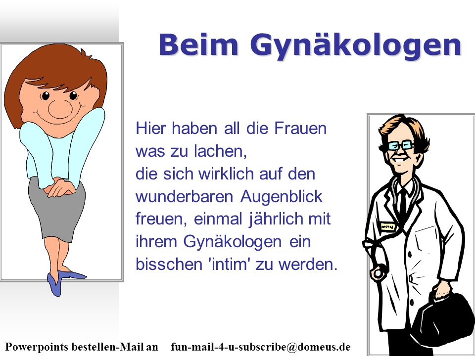 Download von PPSFun.de Beim Gynäkologen.
