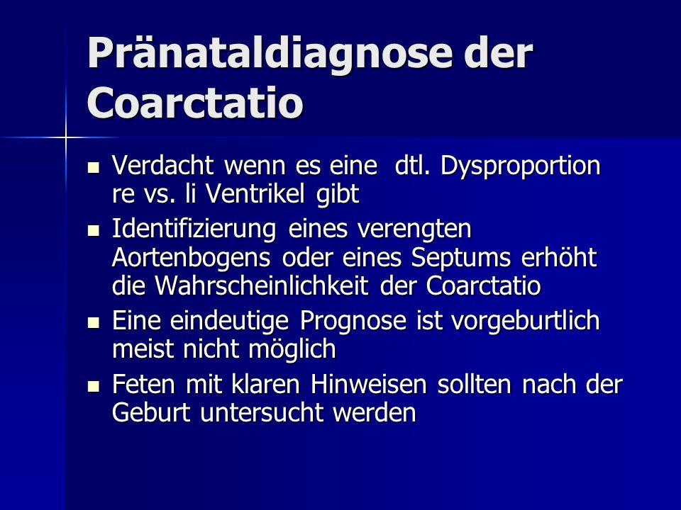 Pränataldiagnose der Coarctatio