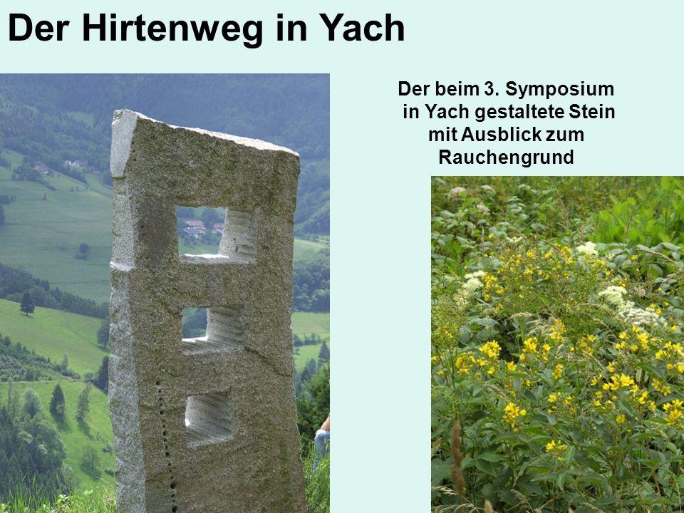 in Yach gestaltete Stein