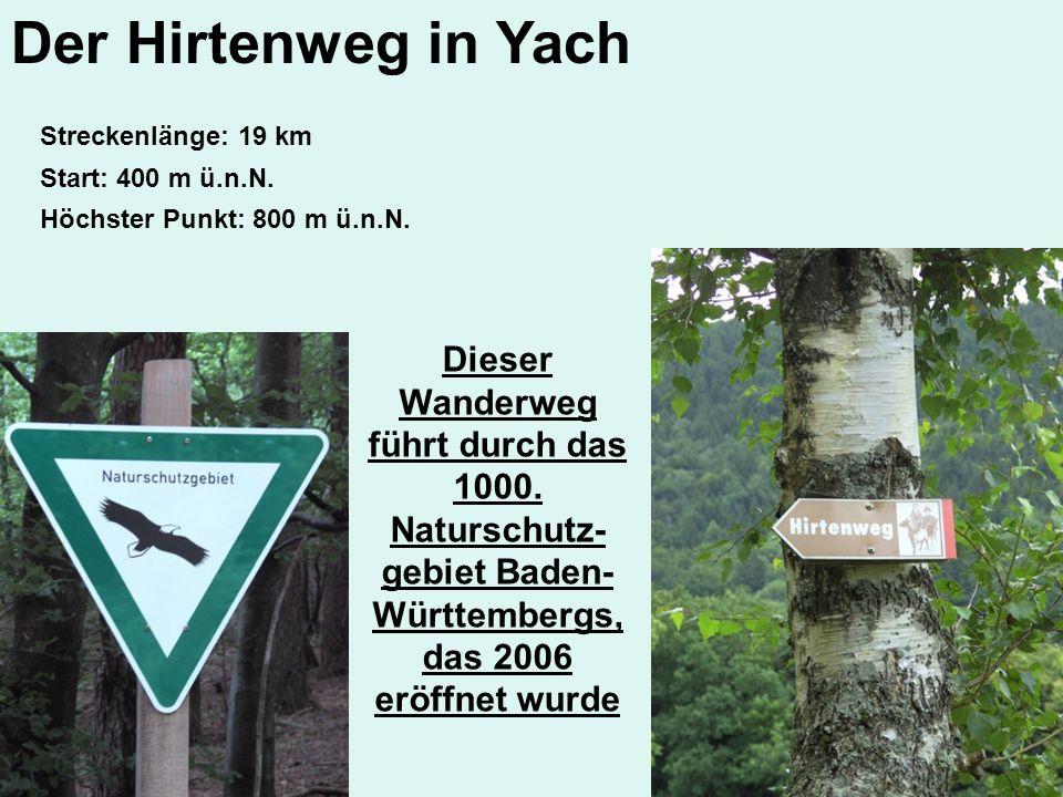 Der Hirtenweg in Yach Streckenlänge: 19 km. Start: 400 m ü.n.N. Höchster Punkt: 800 m ü.n.N.