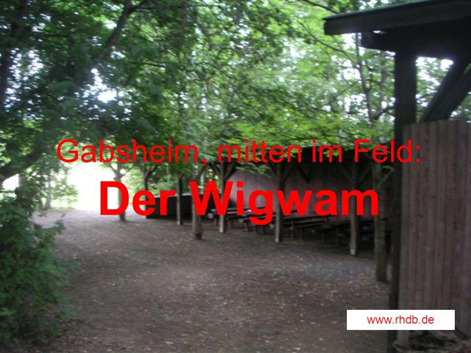 Gabsheim, mitten im Feld: Der Wigwam