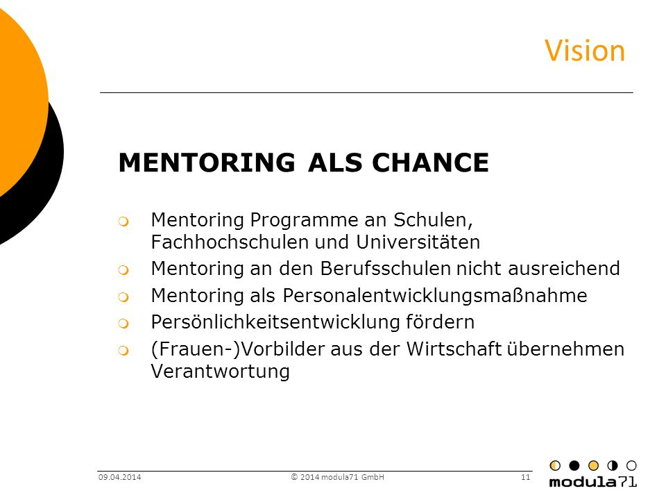 Vision Mentoring als Chance