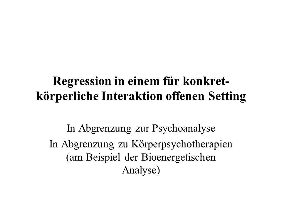 In Abgrenzung zur Psychoanalyse