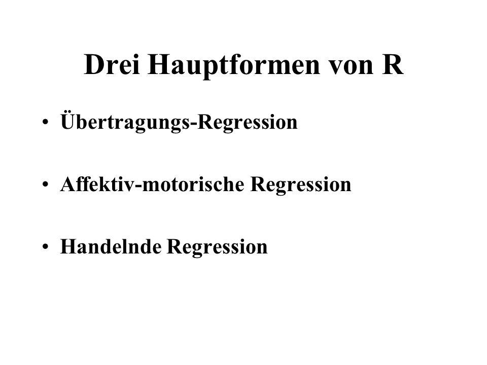 Drei Hauptformen von R Übertragungs-Regression
