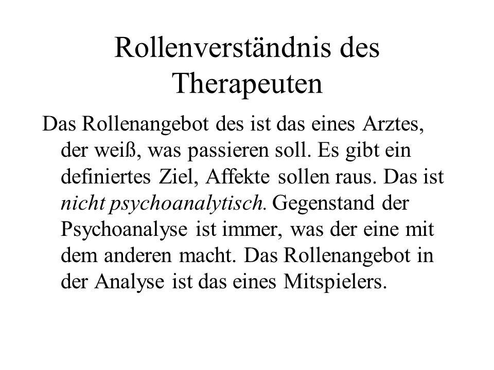 Rollenverständnis des Therapeuten