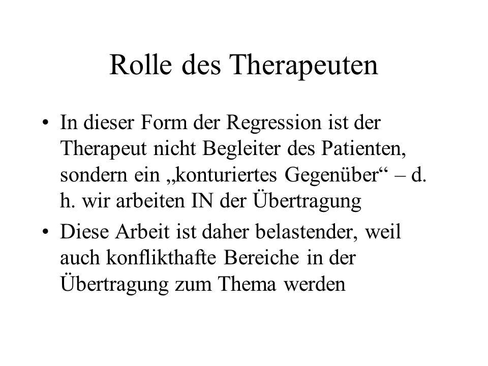 Rolle des Therapeuten