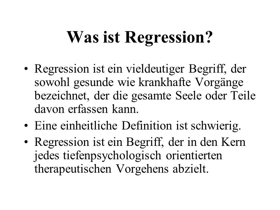 Was ist Regression
