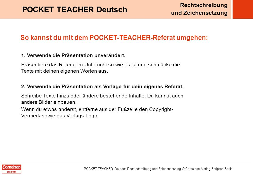 POCKET TEACHER Deutsch