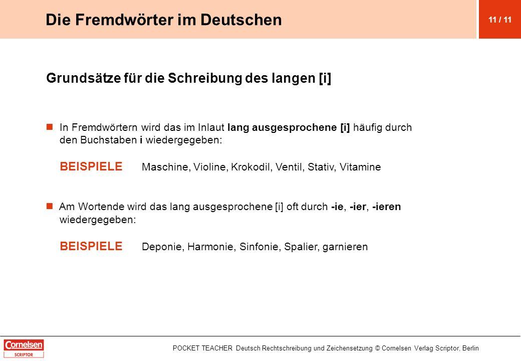 Die Fremdwörter im Deutschen