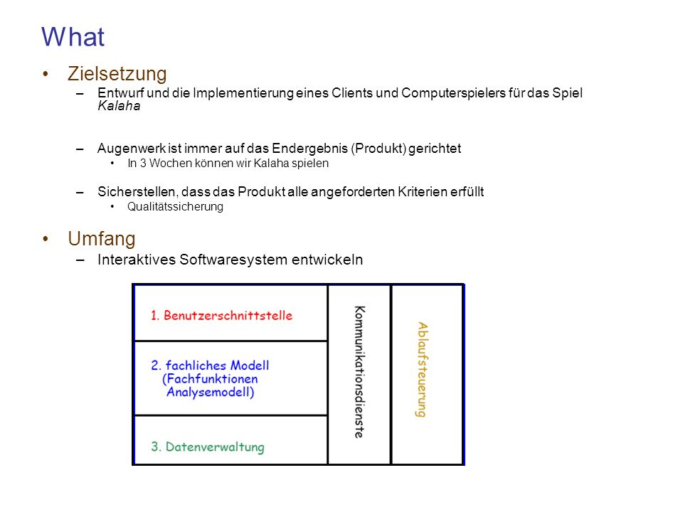 What Zielsetzung Umfang Interaktives Softwaresystem entwickeln