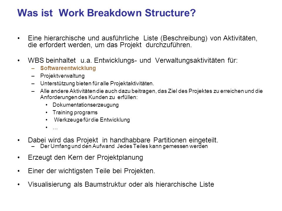 Was ist Work Breakdown Structure