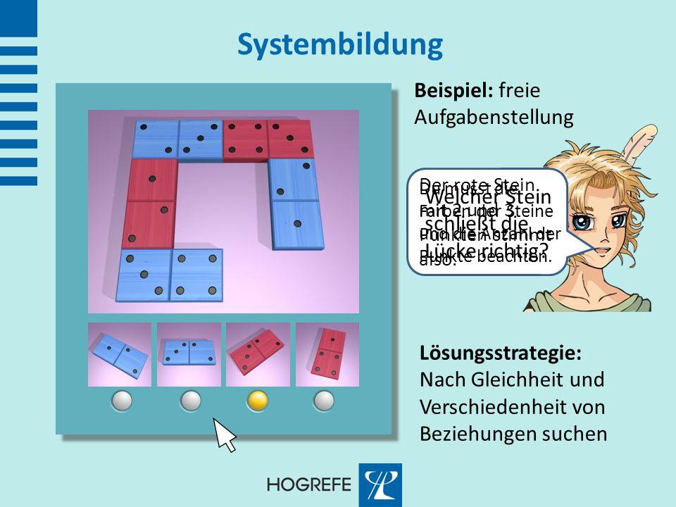 Systembildung Beispiel: freie Aufgabenstellung